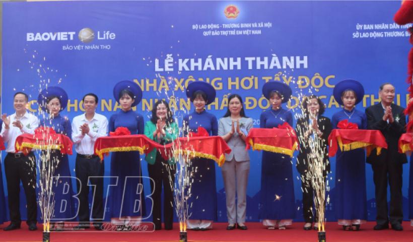 Khánh thành nhà xông hơi tẩy độc cho nạn nhân chất độc da cam tỉnh Thái Bình