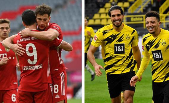 Bayern Munich và Dortmund cùng giành chiến thắng cách biệt