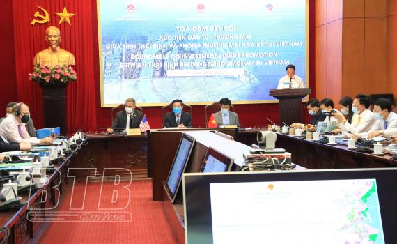 Tọa đàm kết nối xúc tiến đầu tư - thương mại giữa tỉnh Thái Bình và Phòng Thương mại Hoa Kỳ tại Việt Nam