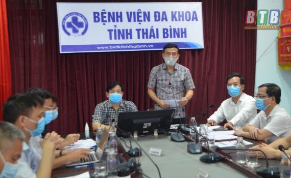 Đoàn công tác của Bộ Y tế làm việc với Ban Chỉ đạo tỉnh phòng, chống dịch Covid-19 về công tác điều trị bệnh nhân dương tính với Covid-19