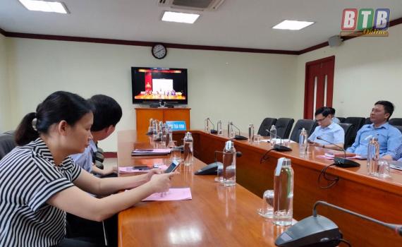 Hội nghị trực tuyến xúc tiến tiêu thụ vải thiều tỉnh Bắc Giang