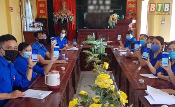 Trên 1 vạn đoàn viên Kiến Xương đã cài đặt và sử dụng khẩu trang điện tử Bluezone